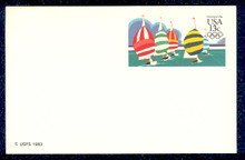 UX100 UPSS# S117 13c Yachting Postal Card
