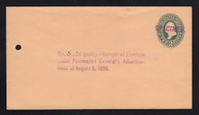 U313, UPSS # 973-12 Entire, Specimen Form 42
