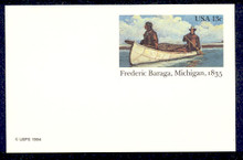 UX103 UPSS# S120 13c Frederic Baraga Mint Postal Card
