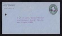 U314, UPSS # 987-12 Entire, Specimen Form 42