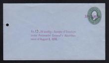 U314, UPSS # 990-12 Entire, Specimen Form 42