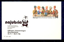 UX110 UPSS# S127b 14c Stamp Collecting, NAJUBRIA '86 overprint, Mint Postal Card