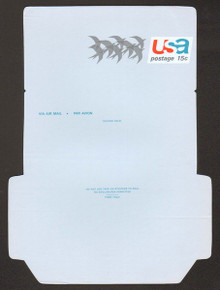 UC44, UPSS #ALS-11a 15c Birds, UNFOLDED, Reverse Die Cut