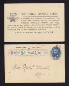 "UX11 Smithville, Mississippi ""Smithville Baptist Church"" Reception 1897"