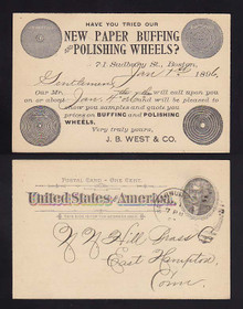 UX12 Boston, Massachusetts SALEMAN'S Calling Card West & Co., Paper Buffing & Polishing Wheels