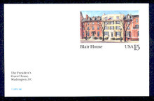 UX121 UPSS# S138 15c Blair House Mint Postal Card