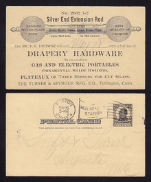 UX19 Torrington, Connecticut SALESMEN'S Calling Card, Drapery Hardware