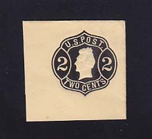 U54 2c Black on Buff, die 4, Mint Full Corner