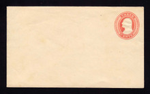 U9 UPSS # 15 3c Red on White, die 5, Mint Entire, Thin on Flap