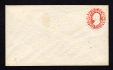 U9 UPSS # 15/T30 3c Red on White, die 5, Mint Entire, Couple Stains