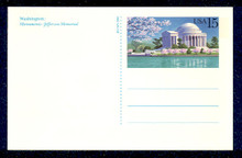 UX144 UPSS# S158 15c Jefferson Memorial Picture Mint Postal Card