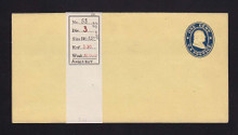 W20 UPSS # 34A-0 1c Blue on Buff, die 1, Mint Wrapper