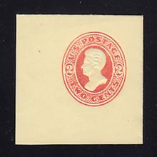 U154 2c Vermillion on Amber, die 7, Mint Full Corner, 50 x 50
