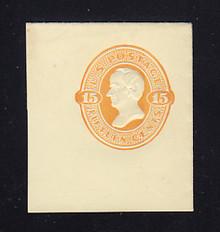 U199 15c Orange on Amber, Mint Full Corner, 45 x 50