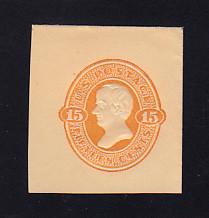U200 15c Orange on Cream, Mint Cut Square, 39 x 43