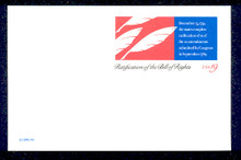 UX156 UPSS# S170 19c Bill of Rights Mint Postal Card