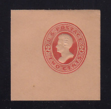 U152 2c Vermillion on Fawn, die 6, Mint Full Corner, 50 x 50