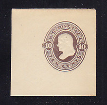 U189 10c Brown on White, die 2, Mint Full Corner, 50 x 50