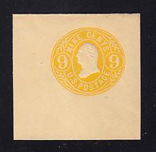 U67a 9c Orange Yellow on Buff, Mint Cut Square, 50 x 50
