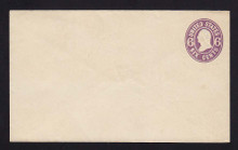 U64 UPSS # 132 6c Purple on White, Mint Entire, Flap thinned