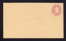 U35 UPSS # 80 3c Pink on Buff, Mint Entire, RARE Knife