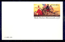 UX77 UPSS# S94 10c Molly Pitcher Mint Postal Card