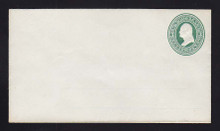 U82 UPSS # 171B 3c Green on White, Mint Entire with Ruled Lines