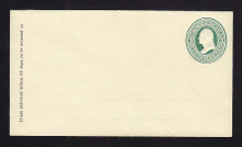 U83 UPSS # 181 3c Green on Amber, Mint Entire, Patent Lines