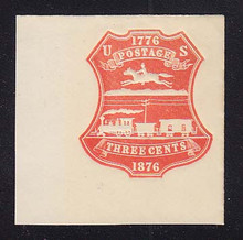 U218 3c Red on White, die 1, Mint Full Corner, 50 x 50