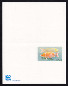 UY48 UPSS# MR58b 28c Koi Fish w/ C2C logo Mint UNFOLDED