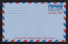 UC32, UPSS #ALS-6 10c Jetliner, 2-Lines on back, Mint, FOLDED