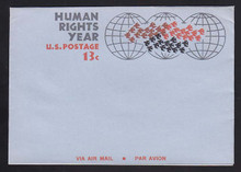 UC42, UPSS #ALS-10 13c Human Rights, Mint, FOLDED