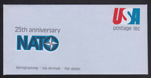 UC49, UPSS #ALS-15 18c Nato 25th Anniversary, Mint, FOLDED