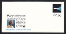 UC60, UPSS #ALS-26 36c Mark Twain, Mint, FOLDED
