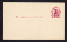 UX34 UPSS# S46-1, Washington Press Printed Surcharge, Clean Face Postal Card, NOT known mint