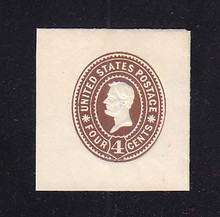 U371 4c Brown on White, die 1, Mint Cut Square