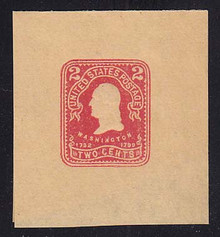 W399 2c Carmine on Manila, Mint Large Full Corner