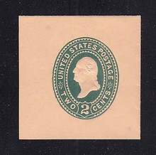 U320 2c Green on Oriental Buff, die 3, Mint Full Corner, 45 x 45