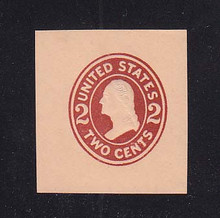 U408a 2c Brown Red on Oriental Buff, die 2, Mint Cut Square, 39 x 42