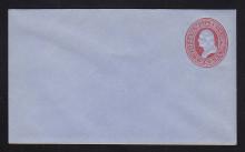 U229 UPSS # 657-6 2c Red on Blue, Mint Entire
