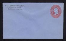 U233 UPSS # 675-5 2c Red on Blue, Mint Entire, CC