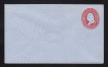 U233 UPSS # 675-6 2c Red on Blue, Mint Entire