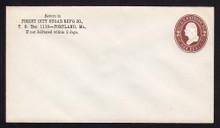 U260 UPSS # 688 2c Brown on White, Mint Entire, CC