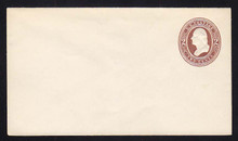 U265 UPSS # 722 2c Brown on White, Mint Entire