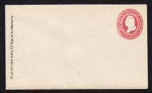 U243 UPSS# 745 2c Red on White, Mint Entire, GR