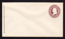 U277 UPSS # 792-6 2c Brown on White, die 1, Mint Entire