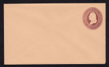 U279 UPSS # 810-7 2c Brown on Oriental Buff, die 1, Mint Entire