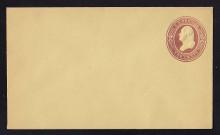 U284 UPSS # 837-7 2c Brown on Amber Manila, die 1, Mint Entire