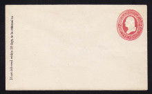 U243 UPSS# 745 2c Red on White, Mint Entire, GR, light hinges on flap