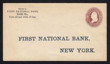 U277 UPSS # 795-0 2c Brown on White, die 1, Mint Entire, Printed Address, NO Watermark